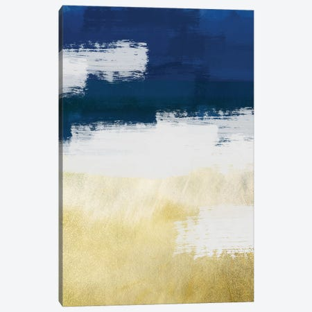 Gold Indigo Shuffle II Canvas Print #PRM9} by Marcus Prime Canvas Print