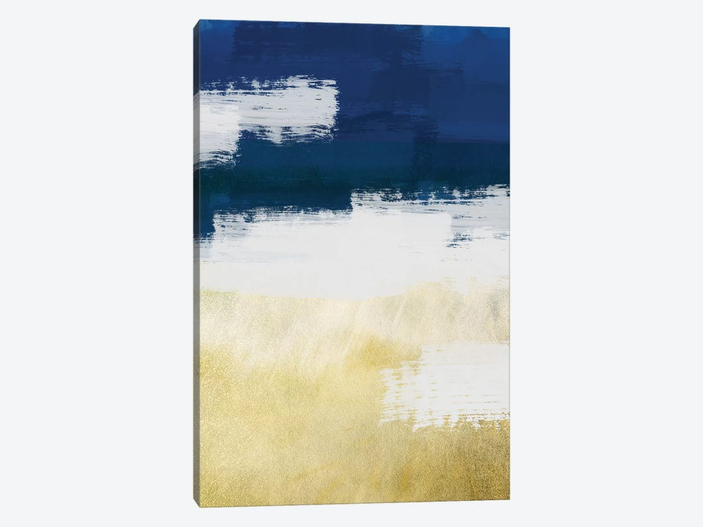 Gold Indigo Shuffle II by Marcus Prime 1-piece Canvas Print