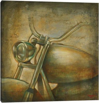 Classic Motorcycle Canvas Art Print