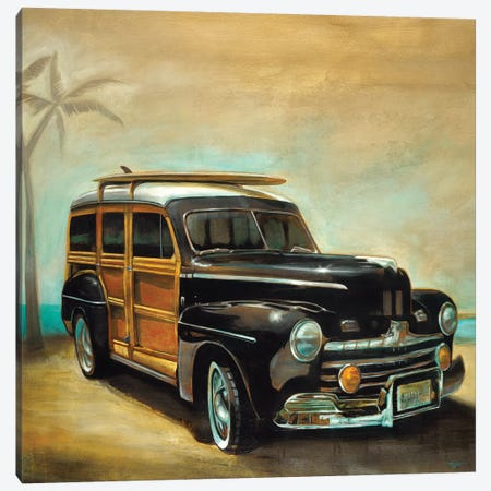 Vintage Woodie Canvas Print #PRO13} by Pablo Rojero Art Print