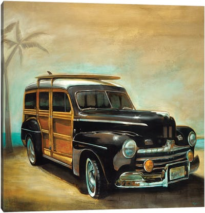 Vintage Woodie Canvas Art Print