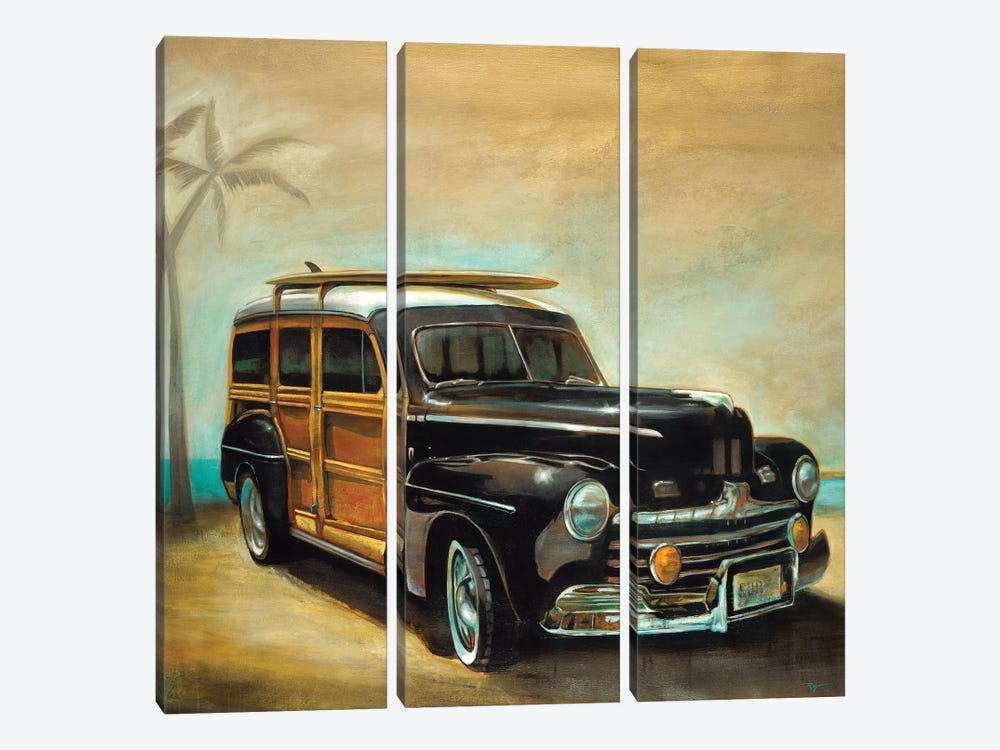 Vintage Woodie by Pablo Rojero 3-piece Canvas Art