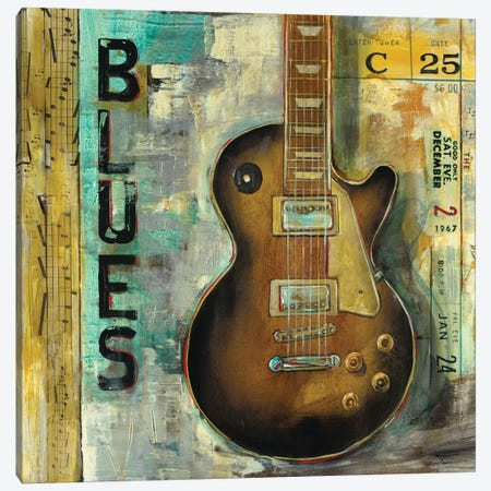 Blues Canvas Print #PRO15} by Pablo Rojero Canvas Artwork