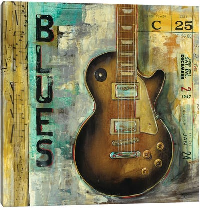 Blues Canvas Art Print