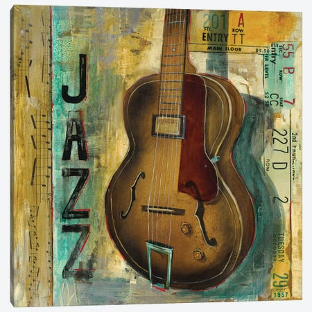 Jazz Canvas Print #PRO16} by Pablo Rojero Canvas Wall Art