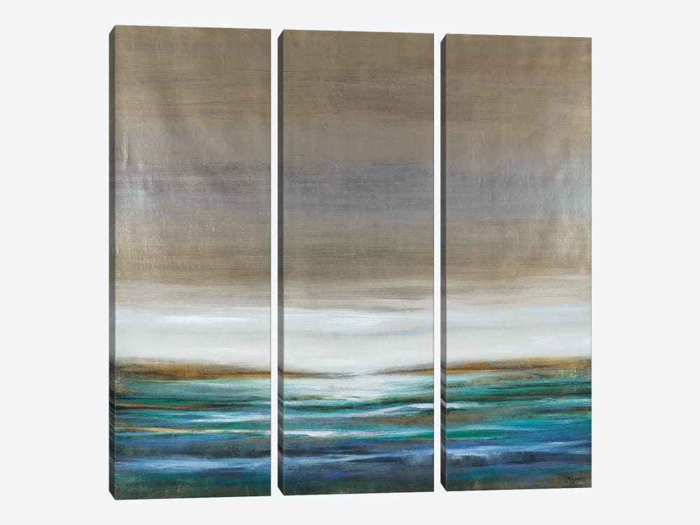 Green Lake by Pablo Rojero 3-piece Canvas Wall Art