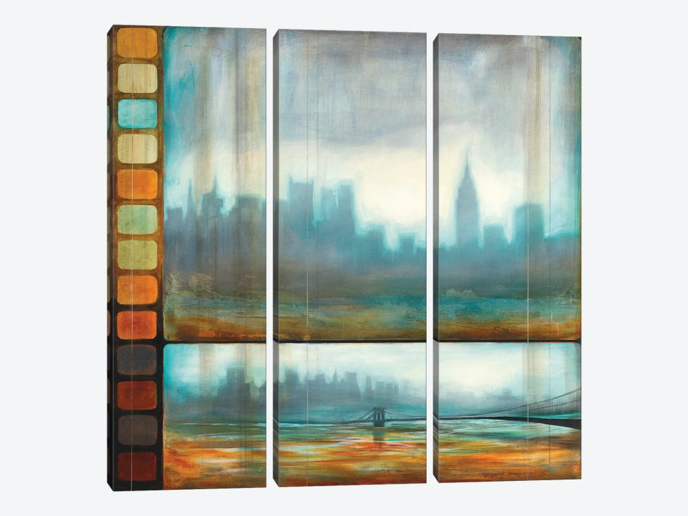 New York Motion by Pablo Rojero 3-piece Canvas Print