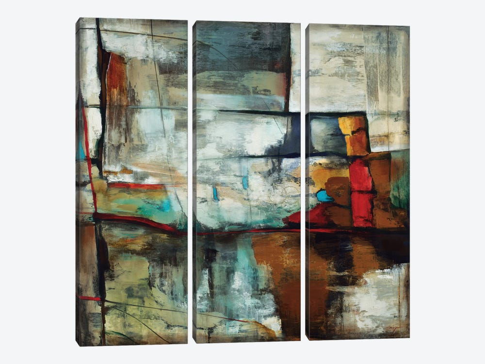 Reflection by Pablo Rojero 3-piece Canvas Wall Art