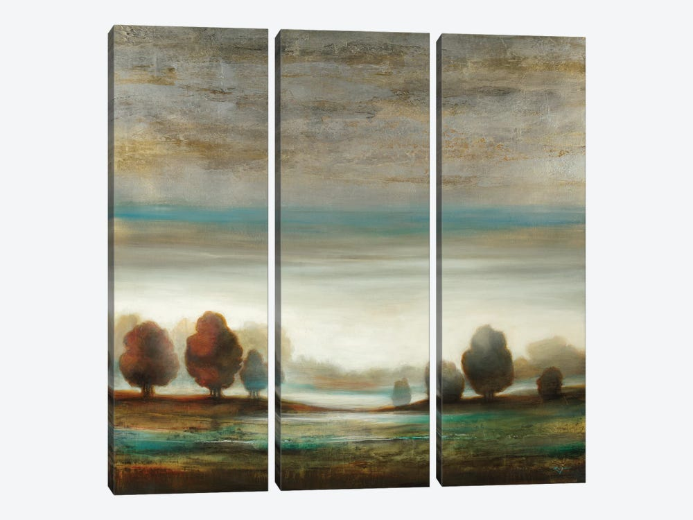 Warm Horizon by Pablo Rojero 3-piece Canvas Wall Art