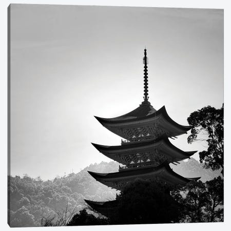 Japanese Temple Canvas Print #PRX11} by Praxis Studio Canvas Wall Art