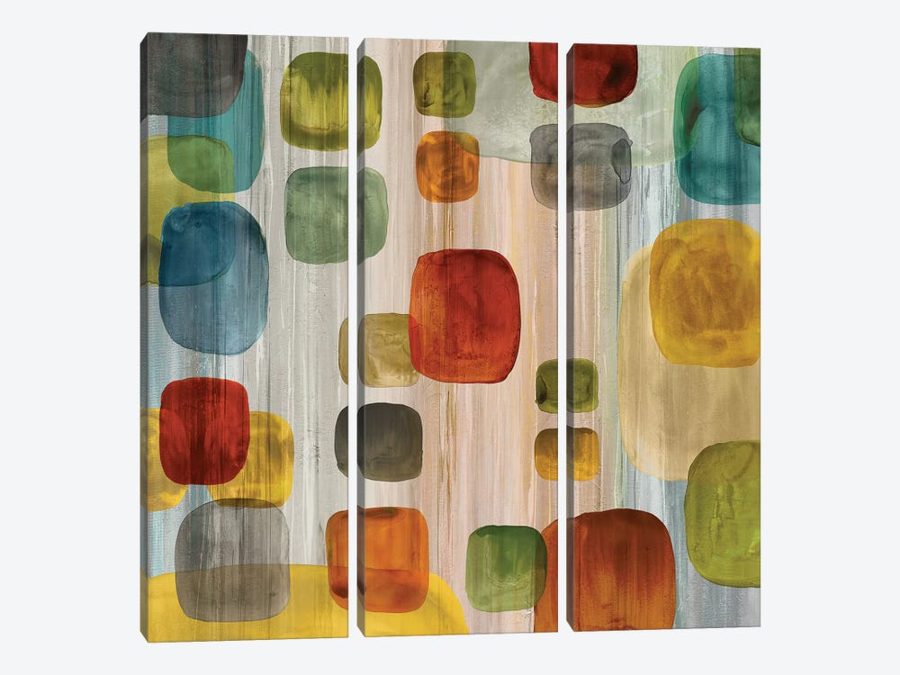 Suspended Gems II by Angela Perry 3-piece Canvas Art