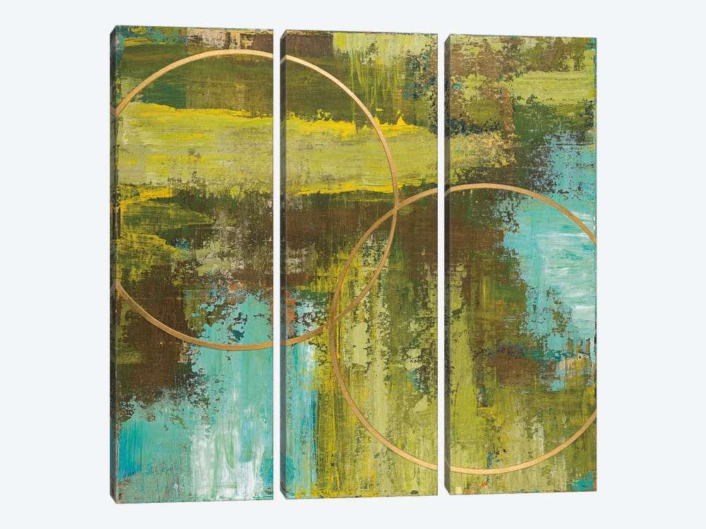 Aller Chartreuse by Patrick St. Germain 3-piece Canvas Wall Art