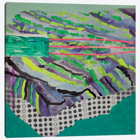 Green Pattern Canvas Print #PSK16} by Pamela Staker Canvas Art Print