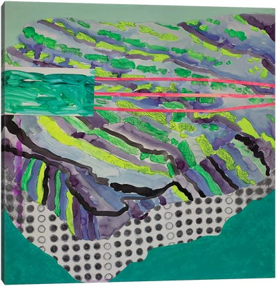 Green Pattern Canvas Art Print