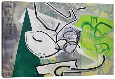 Green Triangle Canvas Art Print