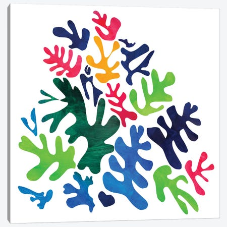 Homage To Matisse I Canvas Print #PSK25} by Pamela Staker Canvas Wall Art