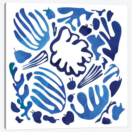 Homage To Matisse II Canvas Print #PSK26} by Pamela Staker Canvas Artwork