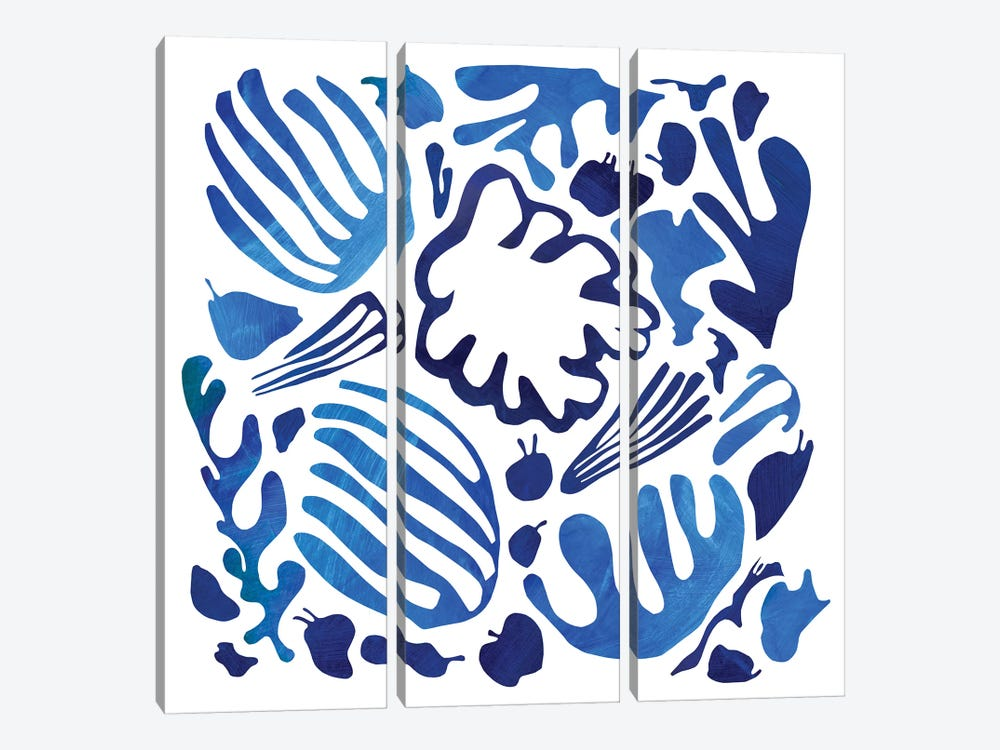 Homage To Matisse II by Pamela Staker 3-piece Canvas Print