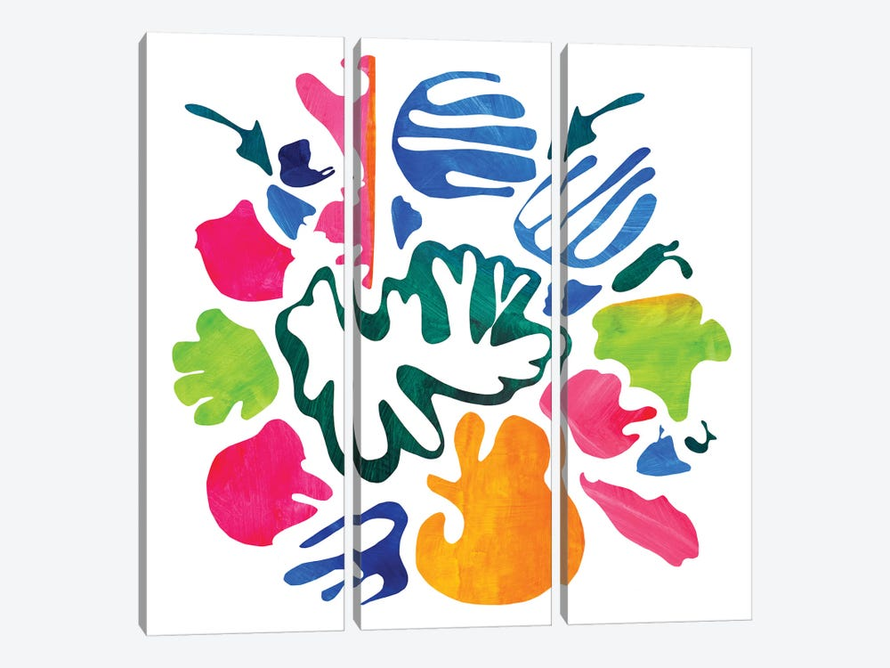 Homage To Matisse V by Pamela Staker 3-piece Canvas Art Print