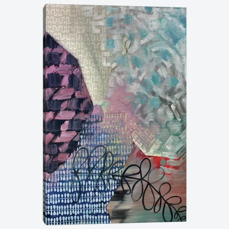 Blue Loops Canvas Print #PSK2} by Pamela Staker Canvas Art