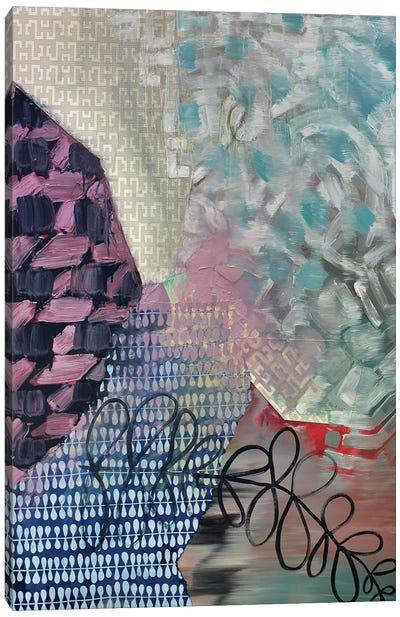 Blue Loops Canvas Art Print