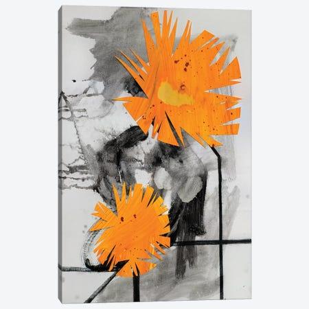 Midwestern Haiku (Dandelions II) Canvas Print #PSK34} by Pamela Staker Canvas Art Print