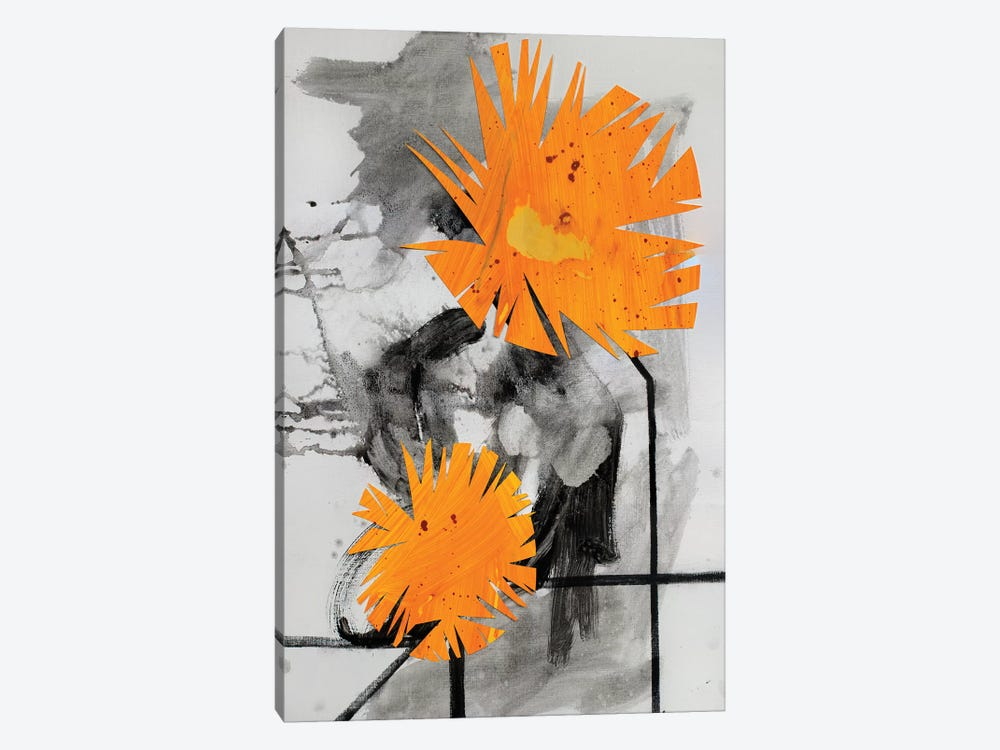 Midwestern Haiku (Dandelions II) by Pamela Staker 1-piece Canvas Artwork