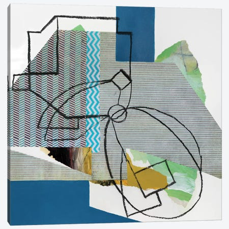 Pin Stripes Canvas Print #PSK40} by Pamela Staker Canvas Print