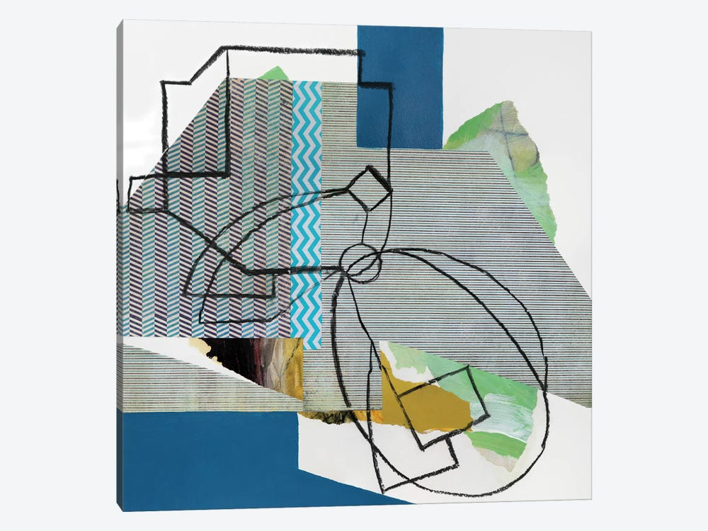 Pin Stripes by Pamela Staker 1-piece Art Print