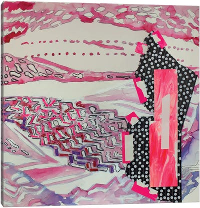 Red Pattern Canvas Art Print