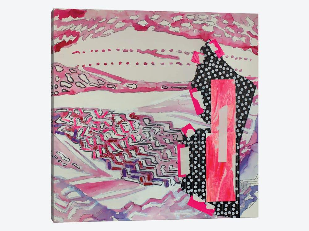 Red Pattern by Pamela Staker 1-piece Canvas Wall Art