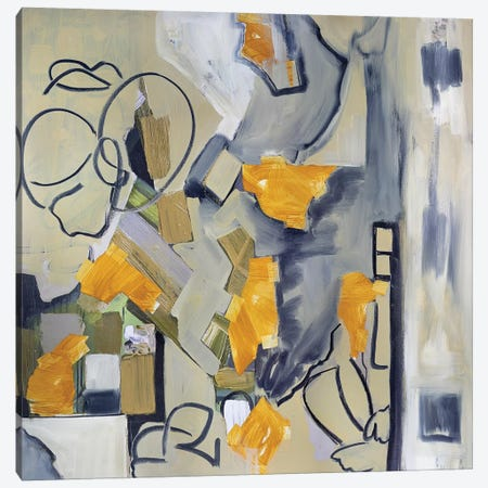 Seated Figures In Urban Landscape II Canvas Print #PSK46} by Pamela Staker Canvas Wall Art