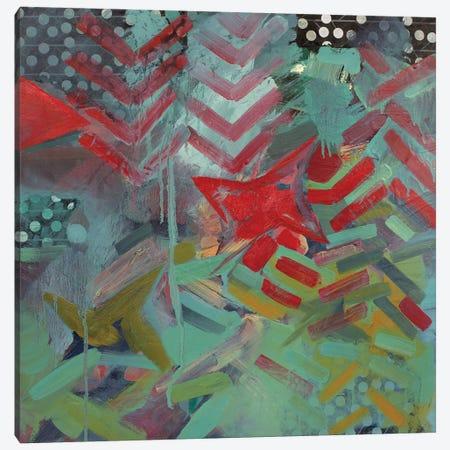 Chevron And Dots Canvas Print #PSK4} by Pamela Staker Canvas Art Print