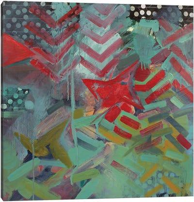 Chevron And Dots Canvas Art Print