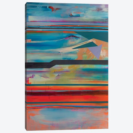 Stacked Horizons IV Canvas Print #PSK51} by Pamela Staker Canvas Artwork