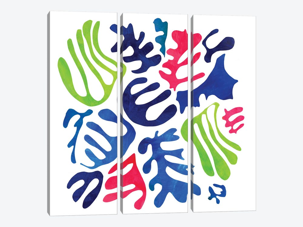 Homage To Matisse III by Pamela Staker 3-piece Canvas Print