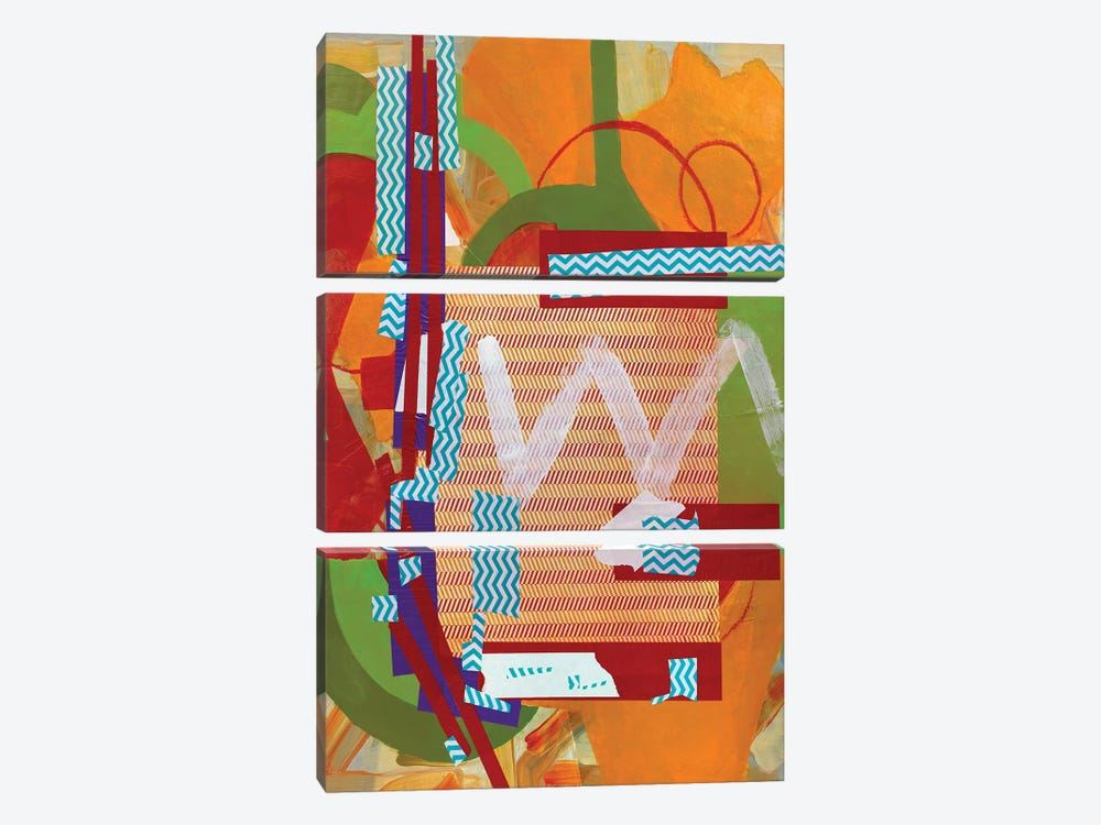Abstract Study (W) by Pamela Staker 3-piece Canvas Wall Art