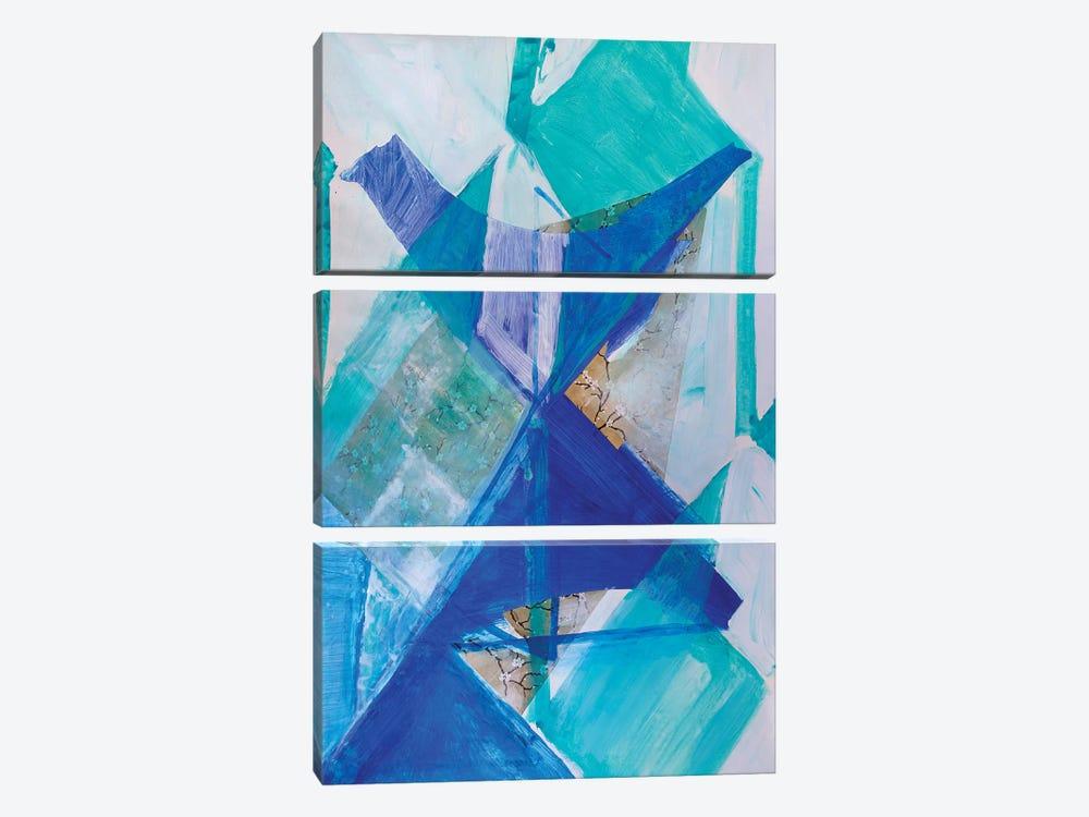 Blue Bird by Pamela Staker 3-piece Canvas Print