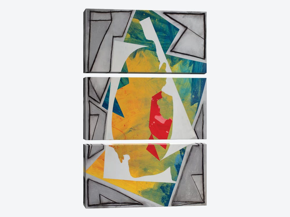 Cutouts And Angles by Pamela Staker 3-piece Canvas Art