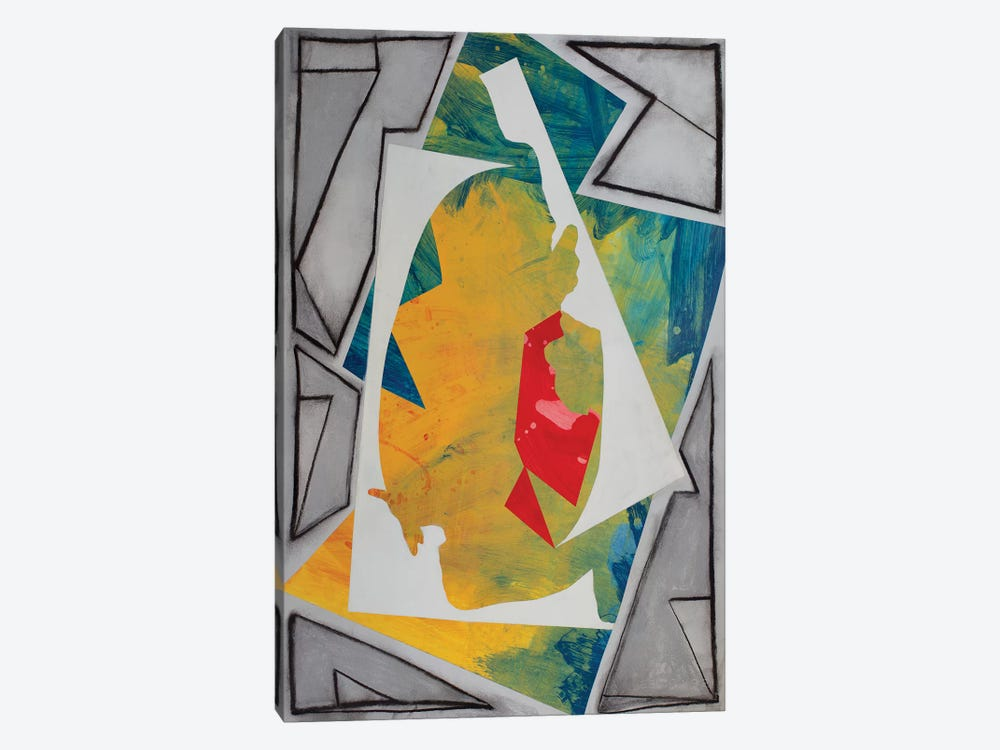 Cutouts And Angles by Pamela Staker 1-piece Canvas Artwork