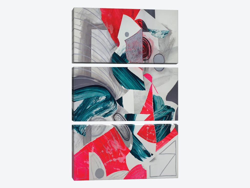 Waves III by Pamela Staker 3-piece Canvas Artwork