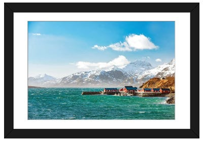 Lofoten On Windy Day Framed Art Print