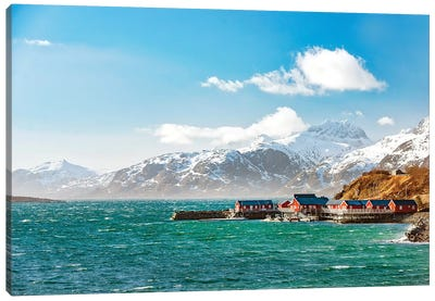 Lofoten On Windy Day Canvas Art Print