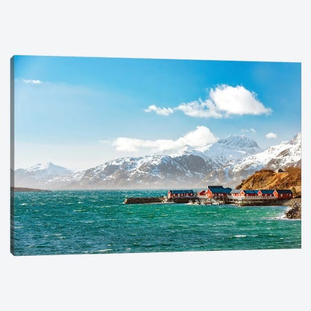 Lofoten On Windy Day Canvas Print #PSL104} by Philippe Sainte-Laudy Canvas Art