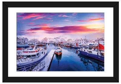 Vibrant Norway Framed Art Print