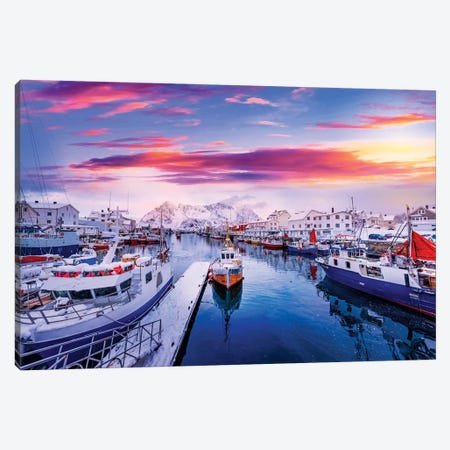 Vibrant Norway Canvas Print #PSL174} by Philippe Sainte-Laudy Art Print