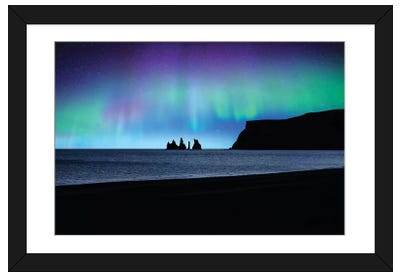 Vik Under Lights Framed Art Print
