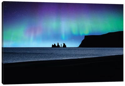 Vik Under Lights Canvas Art Print