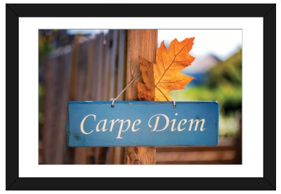 Welcoming Fall In The Carpe Diem Framed Art Print