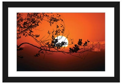 World On Fire Framed Art Print